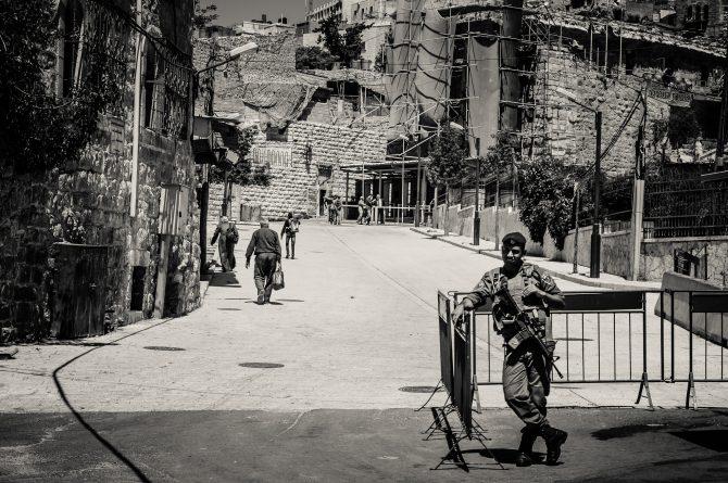 Soldier in Hebron