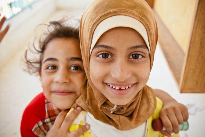Refugee girls
