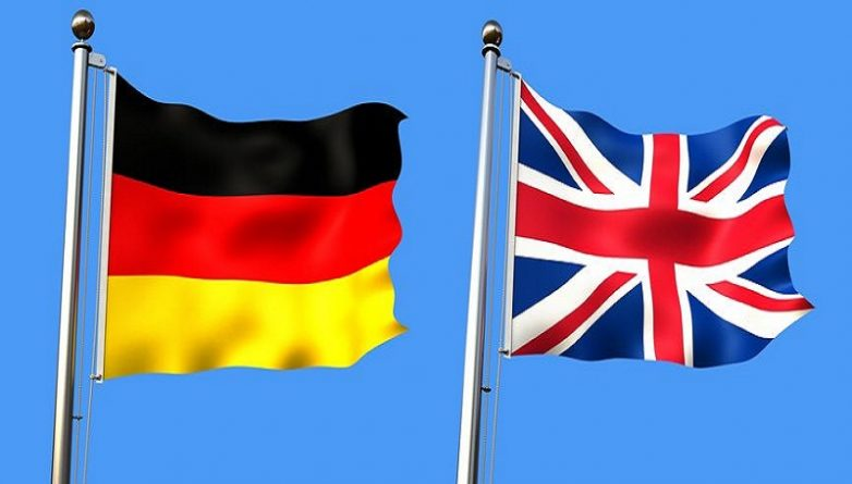 флаги Великобритании и Германии