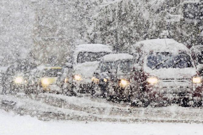 снег в Британии