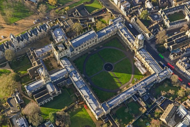 Oxford, aerial